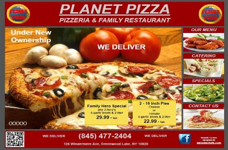 Planet Pizza - Greenwood Lake NY