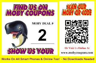 MOBY COUPONS Scan or Click ME